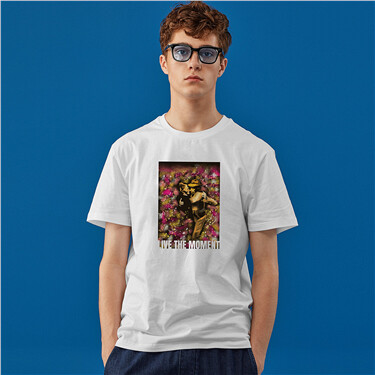 Printed graphic crewneck short-sleeve tee
