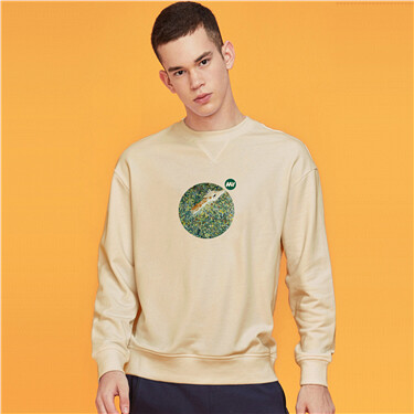 Loose crewneck printed sweatshirt