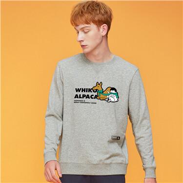 Thick fleece-lined sweatshirt