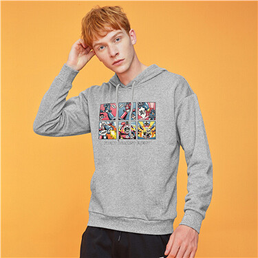 Thick fleece-lined hoodie