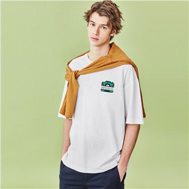 Printed o-neck short-sleeve te