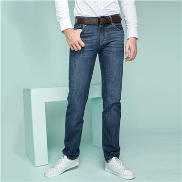 Mid rise modern straight jeans