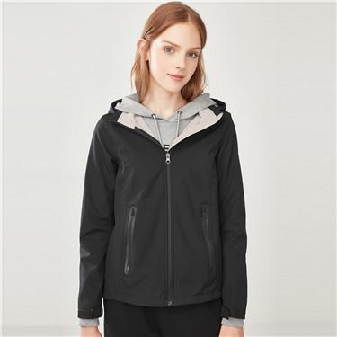 Detachable hood polar fleece jacket