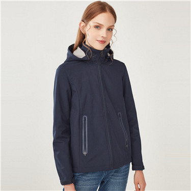 Detachable hood polar fleece jacket