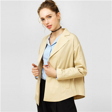 Canvas casual blazer