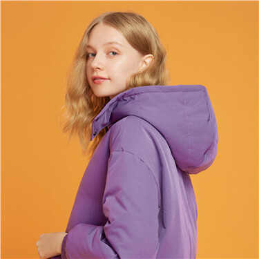 Detachable hood down jacket