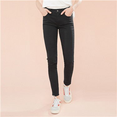 Stretchy slim mid rise jeans