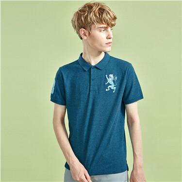 Lion embroidery polo shirt
