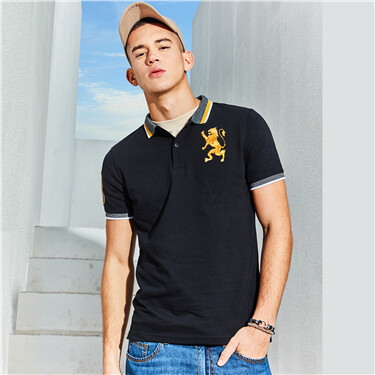 Lion Embroidery Polo Shirt