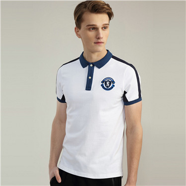 Embroidery short sleeves polo