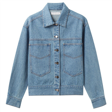 Double patch pockets denim jacket