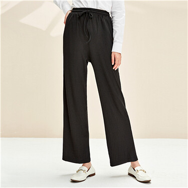 Stretchy elastic waistband pants