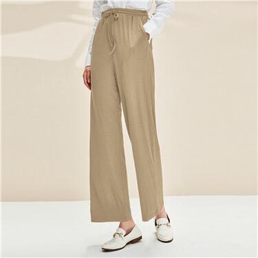 Stretchy elastic waistband pants