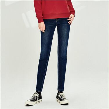5-pocket Moustache Effect Jeans
