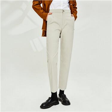 Stretchy elastic waistband khakis