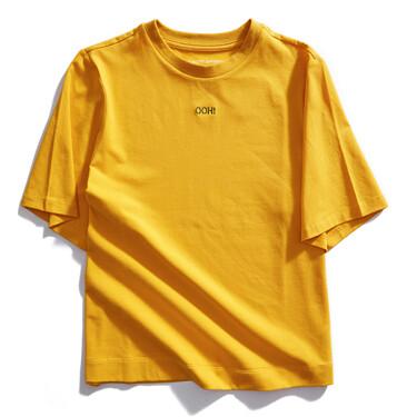 字母小刺绣圆领短袖T恤
