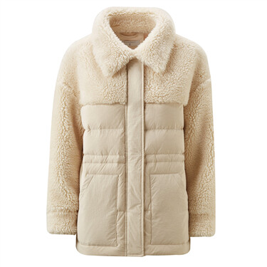 Machine washable white duck down coat
