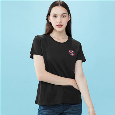 Strip Bamboo Cotton Short Sleeve Tee