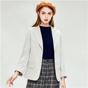 Flat collar casual jacket