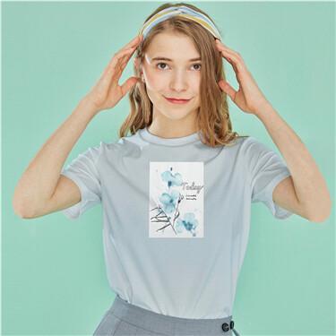 图案印花圆领短袖T恤