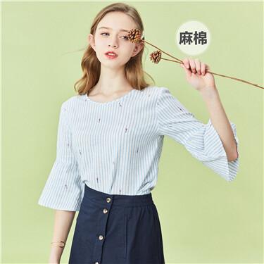 Linen-cotton banded-waist V neck shirt vest