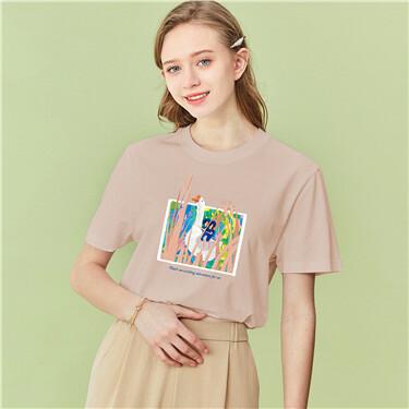 Printed o-neck tee