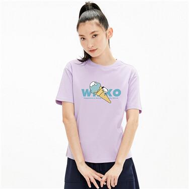 【WHIKO谜之生物联名】佐丹奴夏季新款甜筒纯棉白色t恤女