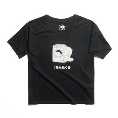 WHIKO系列印花寬松圓領短袖T恤