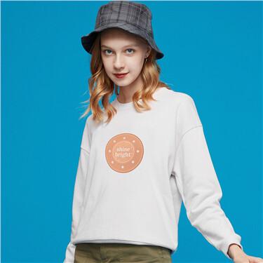 Printed loose pullover sweatshirt
