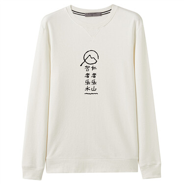Printed loose long-sleeve sweatshirt