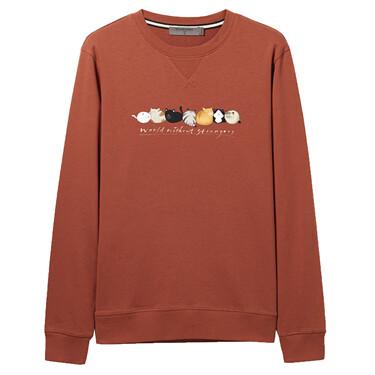 Animal printed crewneck sweatshirt