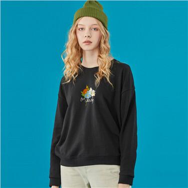 Graphic loose crewneck sweatshirt