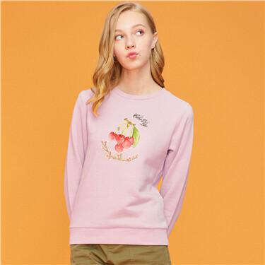 Fruits graphic loose sweatshirt