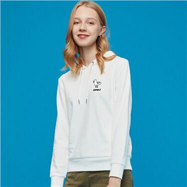 Printed graphic crewneck hoodie