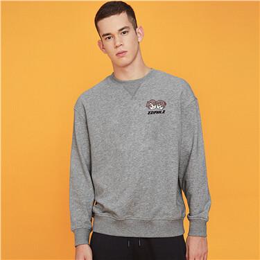 Printed graphic crewneck sweatshirt
