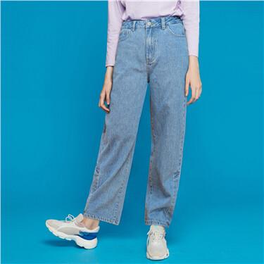 Plain casual pants