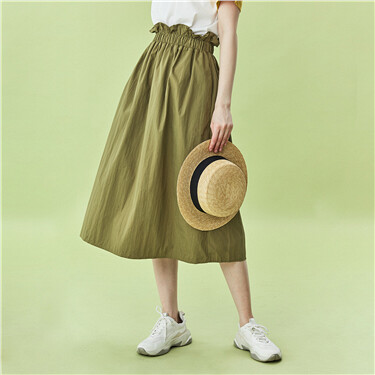 Bud waistband solid skirt